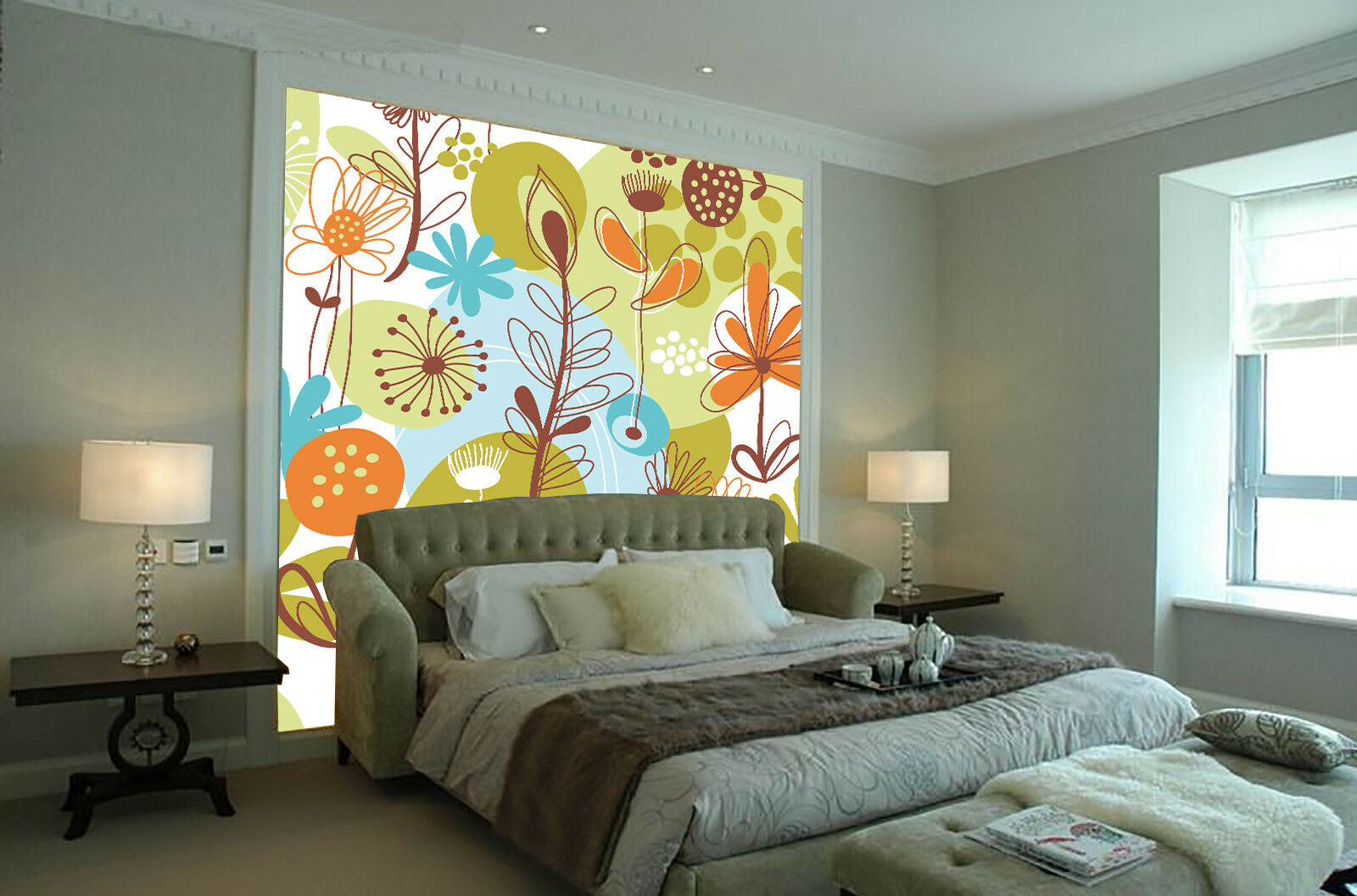 3D Cartoon Pattern 99 Wallpaper Mural Paper Wall Print Wallpaper Murals UK Lemon