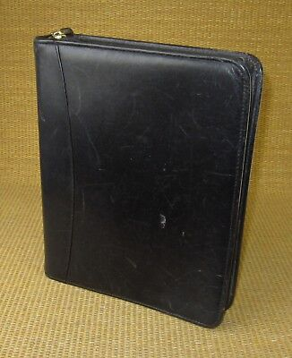 """Black Leather Franklin Covey/quest Zip Planner/binder Usa Buy Now Office Supplies Classic 1.5"""" Rings Office"""