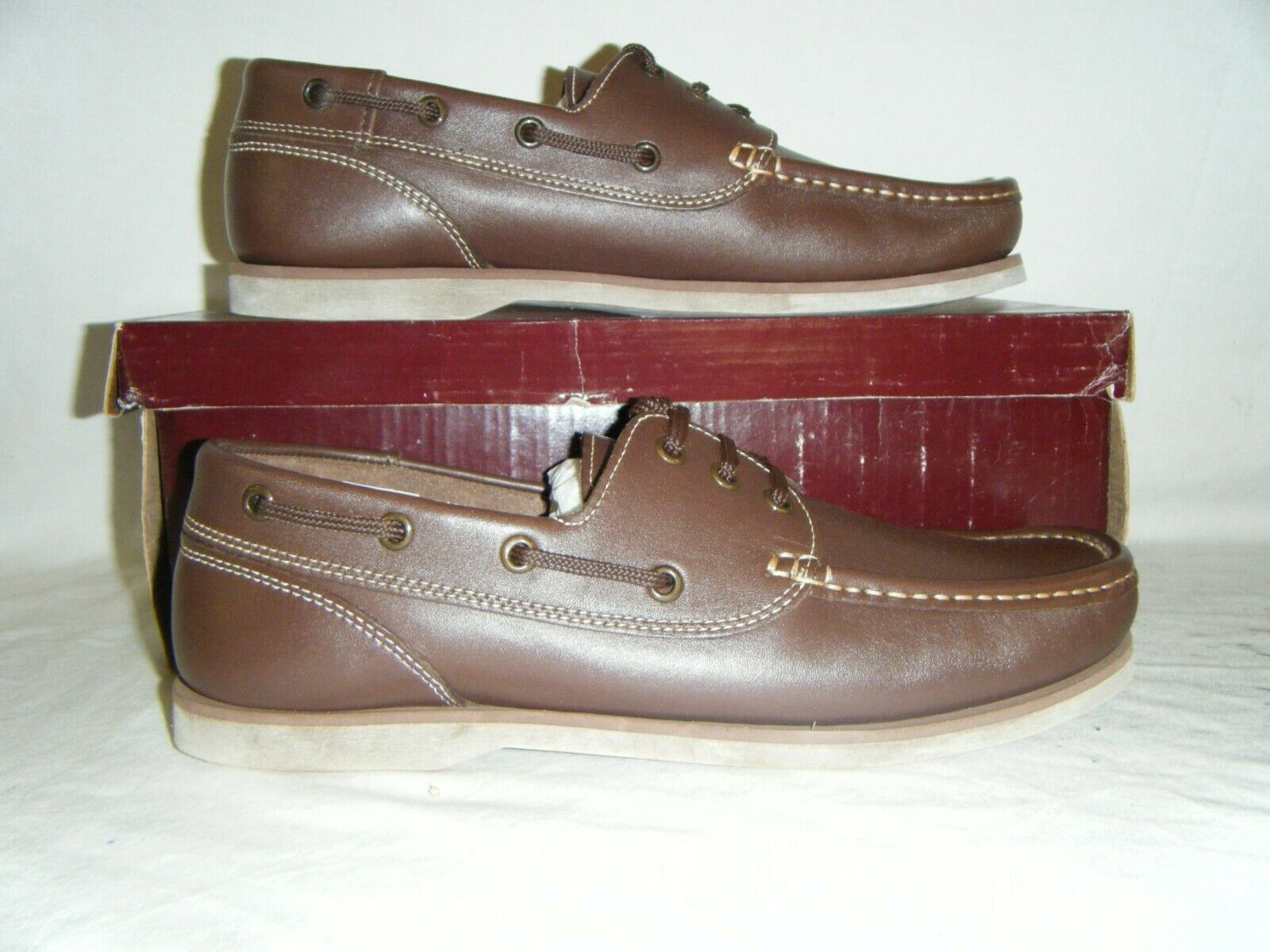 British Army Royal Navy Issue Military Leather Loafers Boat Deck shoes Size 7 41
