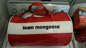 RARE Vintage 1970's Team Mongoose Bag-Motomag- SEE PICTURES - BMX- Red Line-HARO