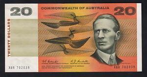 Australia-R-402-1967-20-Dollars-Coombs-Randall-gVF-Crisp