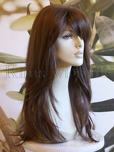 FULL-WOMENS-LADIES-FASHION-HAIR-WIG-LONG-HEAT-RESIST-WARM-MEDIUM-BROWN-UK