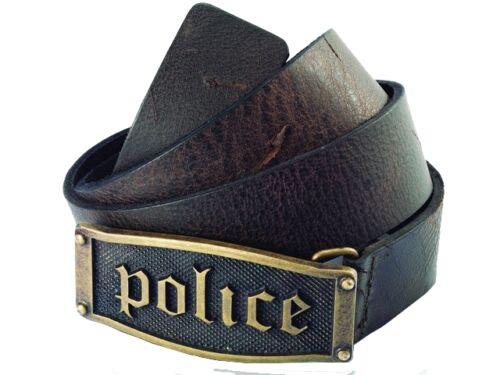 £ 65 police POMAA 7-0401BS hestia gothic marron boucle en laiton ceinture en cuir-s