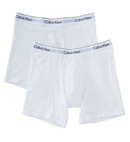 Calvin Klein Men s Underwear 2 Pack Modern Cotton Stretch Boxer Briefs  White Medium for sale online  84175e1c8
