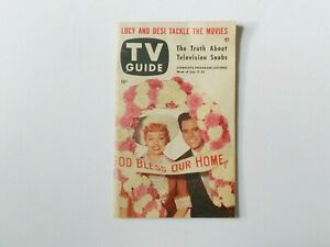 Rare TV Guide July 1953 Lucille Ball Desi Arnaz I Love Lucy Vintage Television