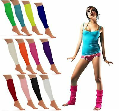 Girls Plain Knitted Leg Warmers Ladies Winter Socks Dance Fancy Dress Accessory