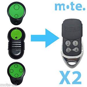 2-x-Merlin-M832-M844-M842-Compatible-Garage-Gate-Door-Remote-Prolift-230T-430R