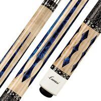 Lucasi Custom LZ2004NB Pool Cue Stick + Zero Flex Low Deflect Shaft + FREE CASE