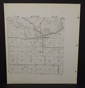 Wisconsin La Fayette County Map Wayne Township 1959 Double Sided K17
