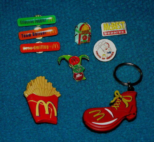 Pins /& Keyring MOST are RARE @ Ronald McDonald Lot of 9 MCDONALDS RESTAURANT