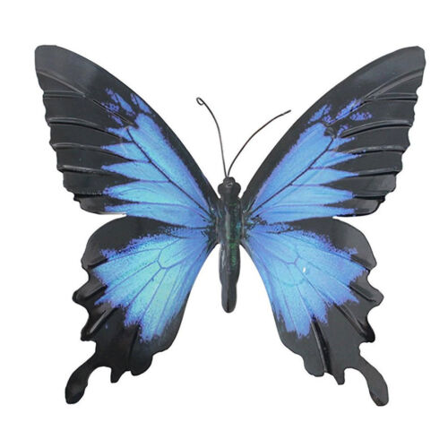 Large Metal Butterfly Blue and Black Outdoor Garden Home Decoration Wall Art
