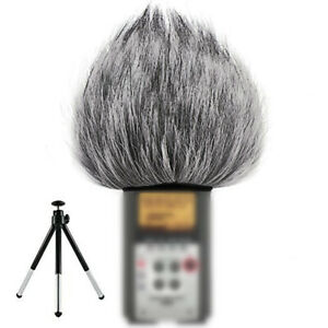 Artificial-Fur-Muff-Microphone-Wind-Shield-Cover-Fits-For-Zoom-H2N-H4N-Recorders