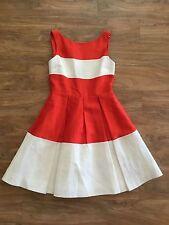 NWT $398.00 Kate Spade Gayle Mara Fit & Flare Pleated Skirt Dress Sz. 6