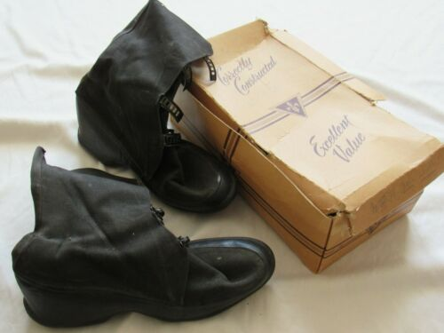 Vtg 40s 50s Ball Band Boots Canvas & Rubber Sz 4.5