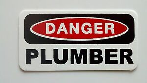 3-Danger-Plumber-Lunch-Box-Hard-Hat-Oil-Field-Tool-Box-Helmet-Sticker