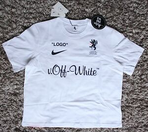 Details zu Nike x Off White Football Mon Amour T-Shirt Tee White Small Large S L New