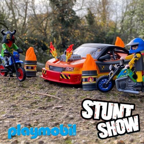 Crash Car 70551 Childrens Kids Action Toy Game New Playmobil Stunt Show