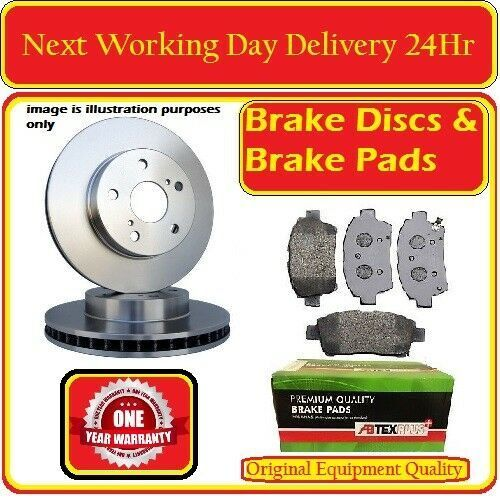 FORD GALAXY 2006-2015 PAIR OF FRONT VENTED BRAKE DISCS AND FRONT BRAKE PADS