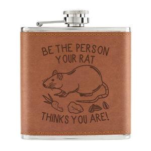 Etre-The-Personne-Votre-Rat-Thinks-You-Are-170ml-Cuir-PU-Hip-Flasque-Fauve-Folle