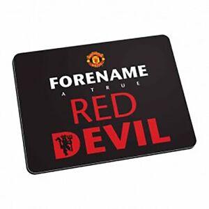 Manchester-United-F-C-Personnalise-Tapis-de-Souris-Rouge-Diable-Noir