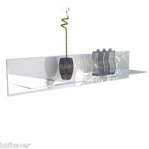 Mensola vetro Ariel moderna 98 cm. con pannello legno x mobile ...