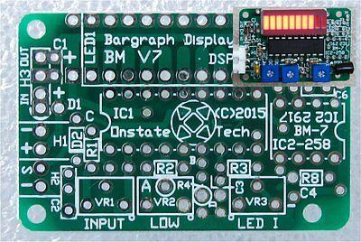 10 LED bargraph display meter PCB, DIY LM2917N F-V tach RPM tachometer AC VU brd