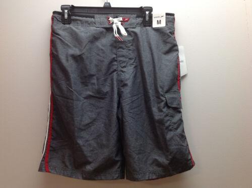Grey//Black//Red//White Speedo Men/'s Lace up Front Swim Trunks Med