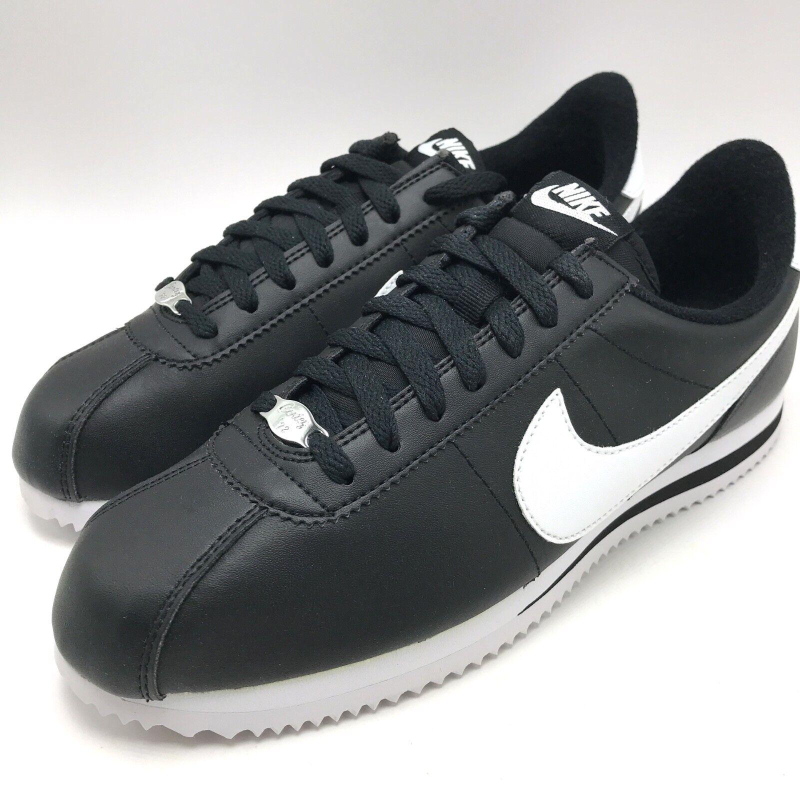 Nike Cortez Basic Leather Men's shoes Black White-Metallic Silver 819719-012