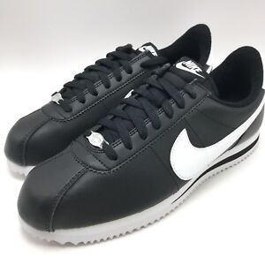 best loved c6b56 68d4e Details about Nike Cortez Basic Leather Men's Shoes Black/White-Metallic  Silver 819719-012