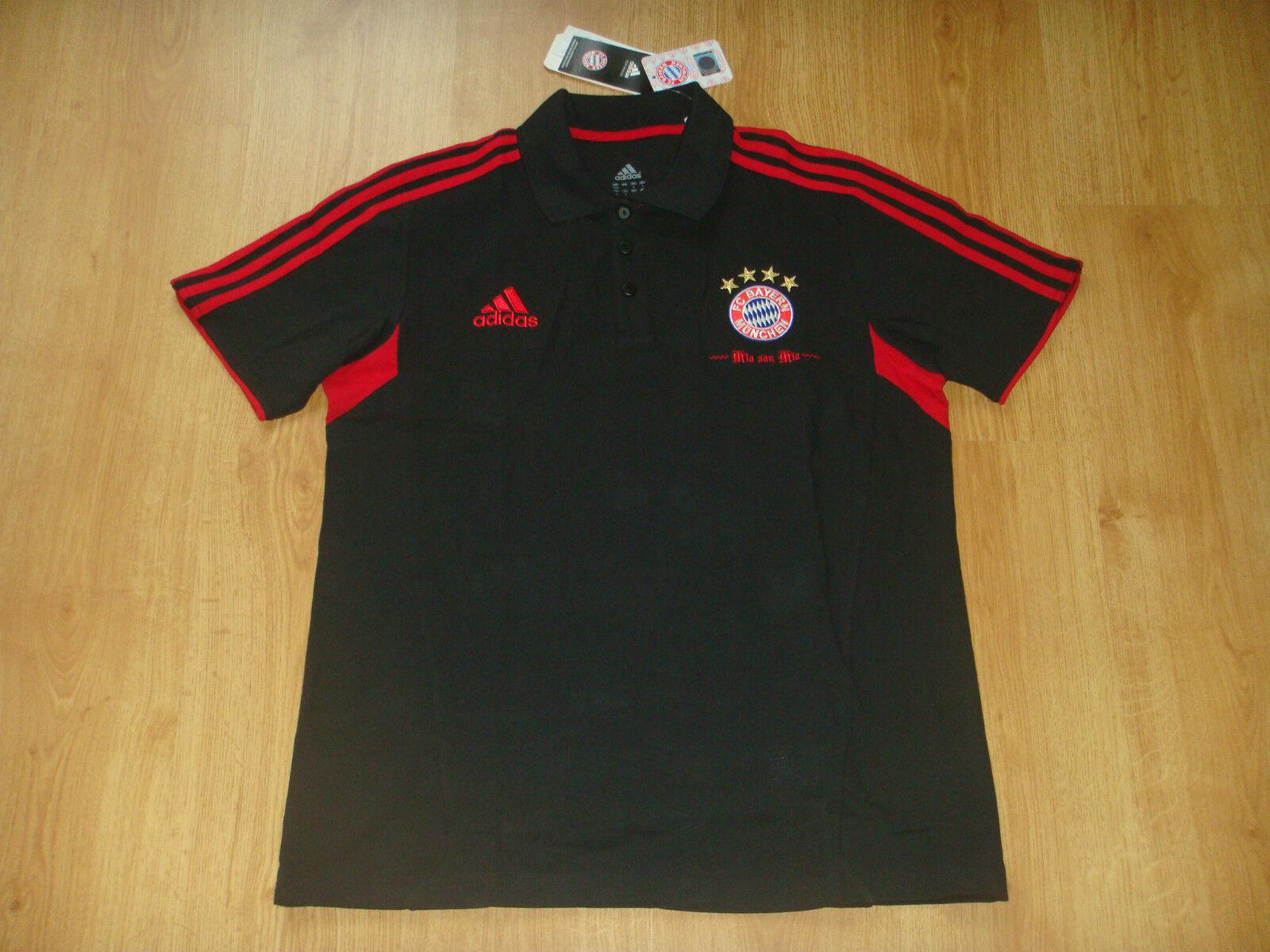 Bayern Munchen Soccer Training Top Adidas Germany Munich Football Polo Shirt NEW