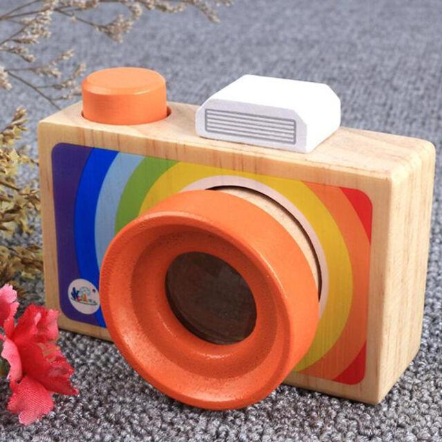 Wooden Rainbow Camera Toy Kids Kaleidoscope Lens Pretend Camera Toys Home Decor For Sale Online Ebay