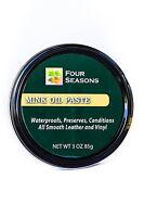 Four Seasons Mink Oil Paste Leather Waterproof Preserver Conditioner 3.5oz (100g