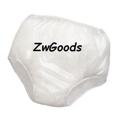 12 pk Vinyl Waterproof Adult Pants Quiet Plastic Pull-on Pants mixed sizes