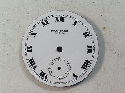 Antique Standard USA  6 Size Pocket Watch Dial Heavy Roman Type