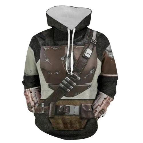 Star Wars The Mandalorian Hoodie 3D Print Sweatshirt Pullover Cosplay Costume