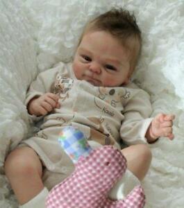 Reborn-Baby-Doll-Kits-Soft-Vinyl-Head-Limbs-For-Making-17-18-034-Newborn-Dolls-Mold
