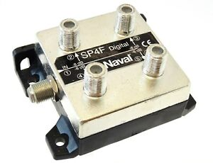 NAVAL-MARINE-4-way-eclats-sp4f-Digital-100khz-1000mhz-8db-5x-F-connector