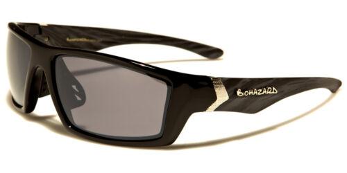 New Rectangle Sport Men/'s Biohazard Sunglasses Mirrored Plastic UV400 BZ66215