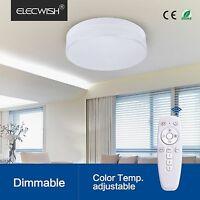 Elecwish 24w Smart Led Ceiling Flush Mount Light Wireless Remote Control Lamp Us