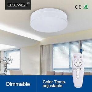 elecwish 24w smart led ceiling flush mount light wireless remote control lamp us ebay. Black Bedroom Furniture Sets. Home Design Ideas