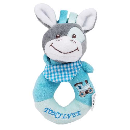 Newborn Infant Baby Rattles Ring Plush Toys Handbell Grab Soft Toy one