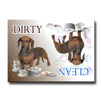 DACHSHUND Clean Dirty DISHWASHER MAGNET No 1 Must See