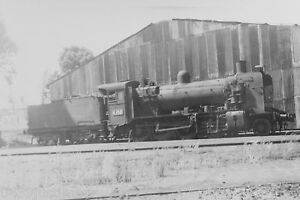 Victorian-Railways-Steam-K158-Stored-Outside-Geelong-Roundhouse-October-1968