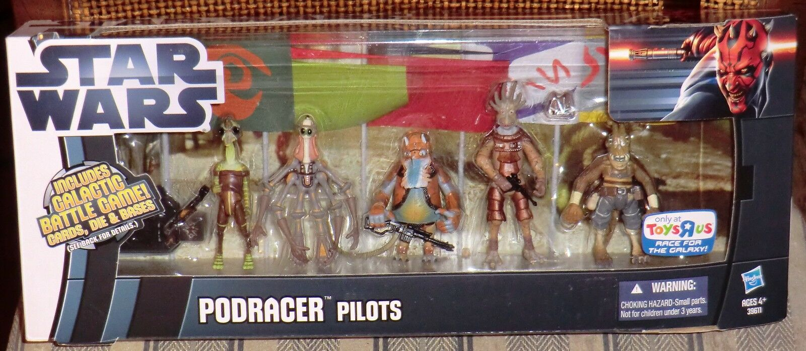 STAR WARS   POD RACER PILOTS   TOY R US  EXCLUSIVE 5 FIGURES MISB