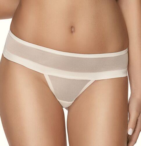 DKNY Stretch Mesh Off White Litewear Thong Panty NEW Womens Sz S 5  L 7   DK2000
