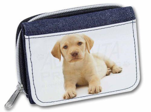 AD-L4JW Yellow Labrador Girls//Ladies Denim Purse Wallet Christmas Gift Idea