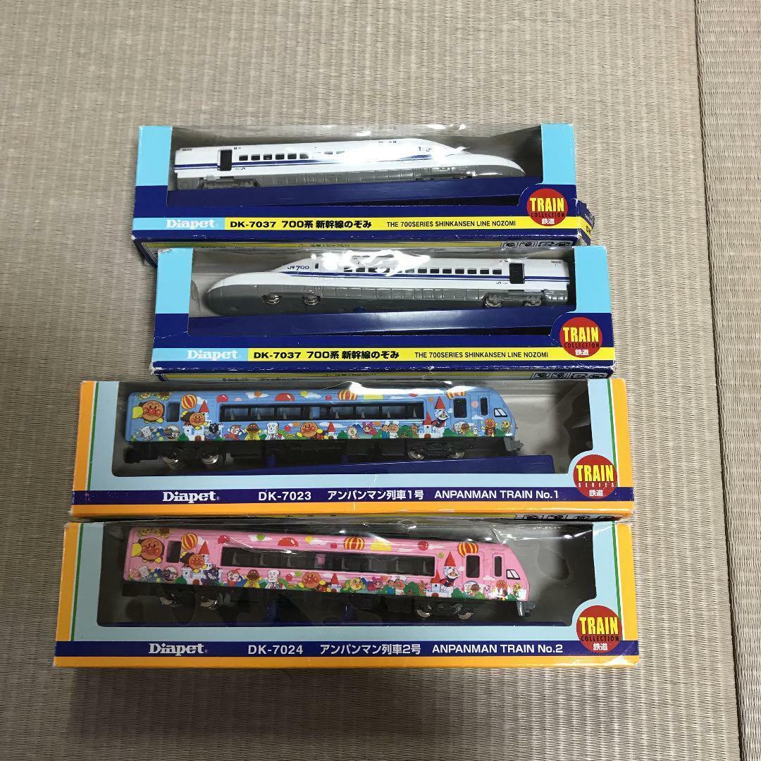 Diapet Anpanman Train Shinkansen pink blueeeeeee 4 set vehicle toy w tracking f s