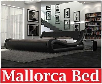Italian Design Mallorca Queen King Size, Istyle Mallorca Queen Bed Frame Pu Leather Black