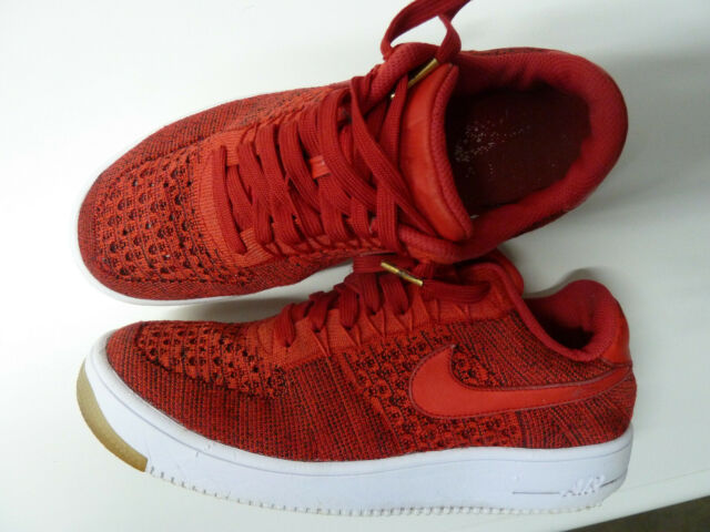 nike air force 1 flyknit low red