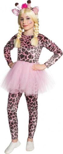 Girls Pink Giraffe Tutu Wild Animal Jungle Book Day Fancy Dress Costume Outfit